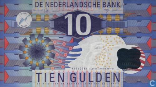 10 guilder Netherlands 1997