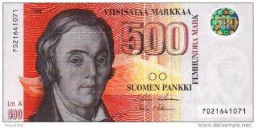 Banknotes; Finland 500-markka