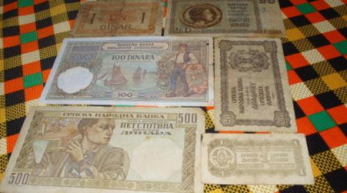 Lot banknote Yugoslavia-6 pcs. 1919-1944