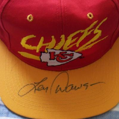 Len Dawson autographed Kansas City Chiefs cap