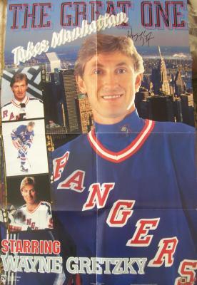 Wayne Gretzky autographed New York Rangers 22x34 poster