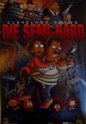 Cleveland Show cast autographed 2011 poster (Mike Henry Sanaa Lathan)