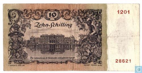 Austria 10 Schilling 1950
