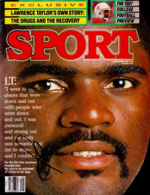 Lawrence Taylor (New York Giants) autographed 1987 Sport Magazine