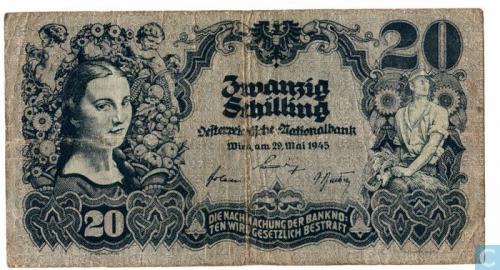 Austria 20 Schilling 1945