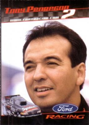 Tony Pedregon 2001 Ford Racing Sports Illustrated for Kids card