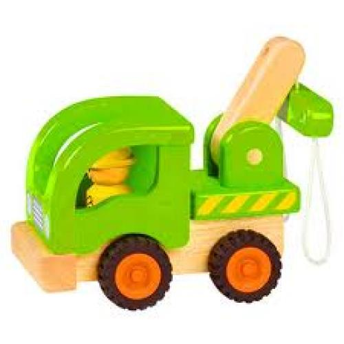 Toy tow truck; toys for boys; 2+ age wooden toy cars