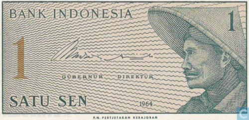 Indonesia 1 Sen-1964-unc