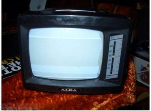 small TV with radio ALBA-1970-black and white