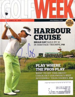 Brian Gay autographed 2009 Golfweek magazine
