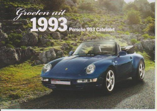 Porsche 911 Cabrio 1993 postcard