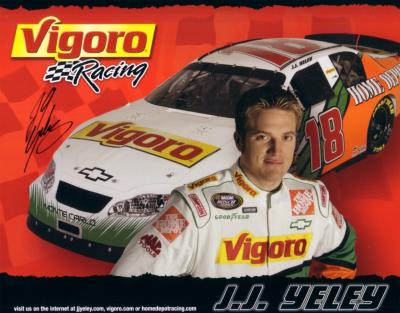 J.J. Yeley (NASCAR) autographed 8x10 photo card