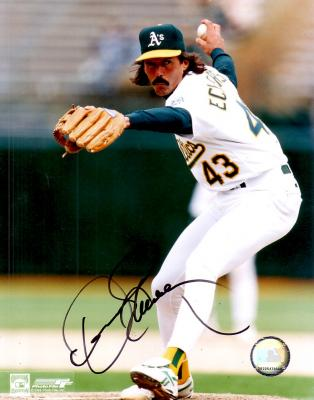 Dennis Eckersley autographed 8x10 Oakland A's photo