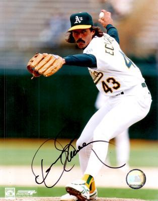 Dennis Eckersley autographed 8x10 Oakland A's photo