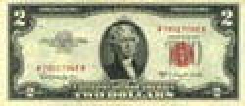 2 Dollars; Issue of 1953-63; (red seal)