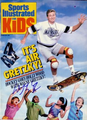 Wayne Gretzky autographed Los Angeles Kings Sports Illustrated for Kids magazine