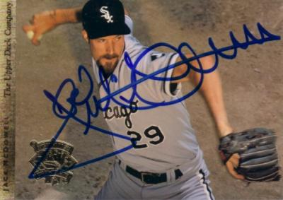 Jack McDowell autographed Chicago White Sox 1994 Upper Deck jumbo card