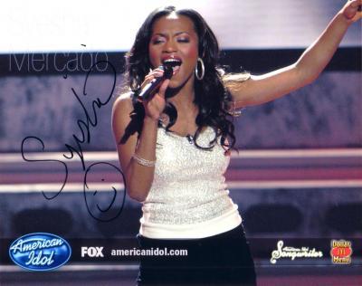 Syesha Mercado autographed 2008 American Idol 8x10 photo