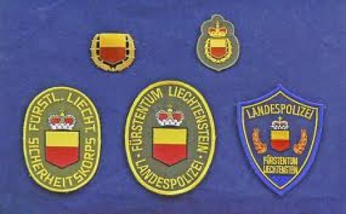 Patches; Principality of Liechtenstein National Police Badge & Patches