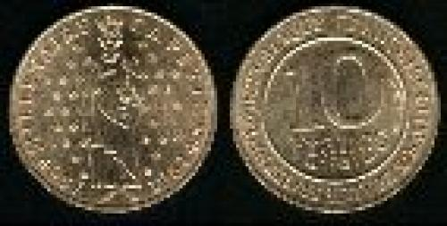 10 francs; Year: 1987;(km 961d); King Capet