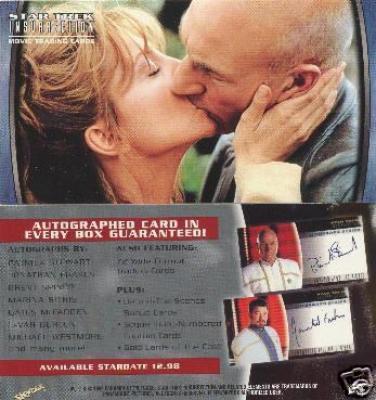 Star Trek Insurrection 1998 SkyBox promo card