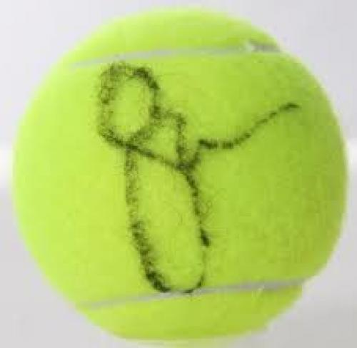 Memorabilia; Serena Williams Autographed Tennis Ball JSA