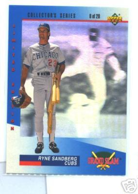 Ryne Sandberg 1993 Upper Deck Denny's Grand Slam hologram card