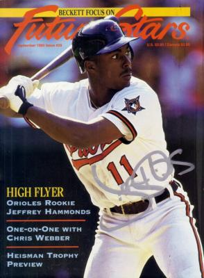 Jeffrey Hammonds autographed Baltimore Orioles Beckett Future Stars cover