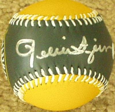 Rollie Fingers autographed Oakland A's baseball