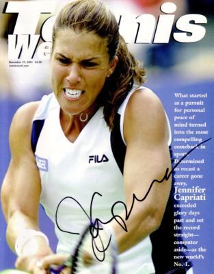 Jennifer Capriati autographed 2001 Tennis Week magazine cover
