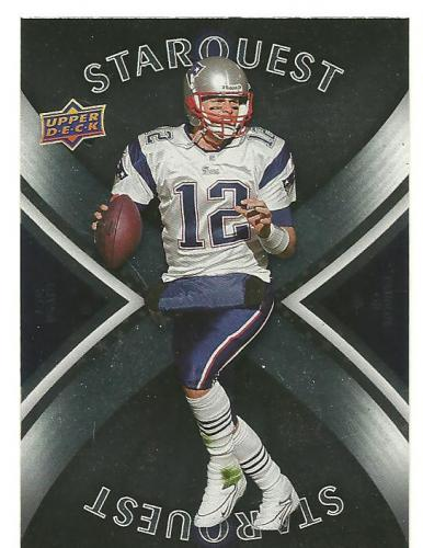 TOM BRADY 2008 UPPER DECK STAR QUEST SILVER