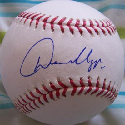 Dan Uggla autographed MLB baseball