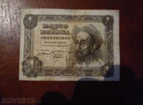 SPAIN - 1951 1 pesetas