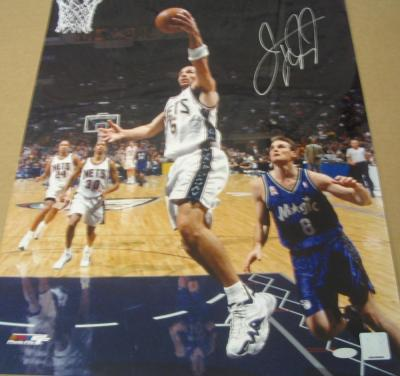 Jason Kidd autographed New Jersey Nets 16x20 poster size photo (Steiner)