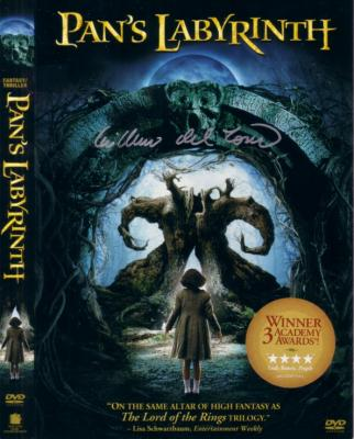 Guillermo del Toro autographed Pan's Labyrinth DVD sleeve