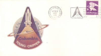 1981 Space Shuttle Columbia STS-1 launch NASA cachet cover