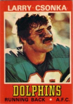Larry Csonka Dolphins 1974 Wonder Bread card #5 Ex