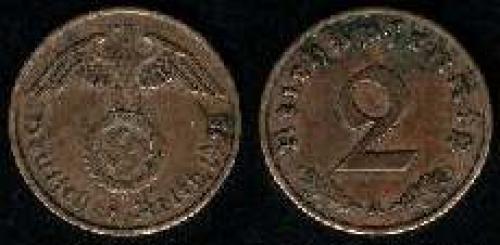 2 reichspfennig 1936-1940 (km 90)
