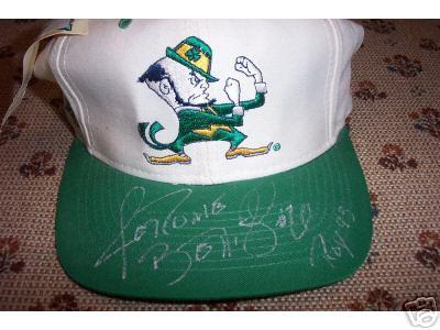 Jerome Bettis autographed Notre Dame cap