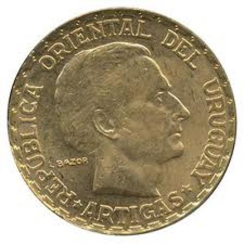 Coins; 1930 Uruguay 5 Peso Gold Coin