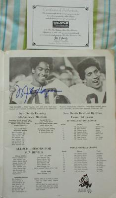Mike Haynes autographed 1974 Arizona State football yearbook