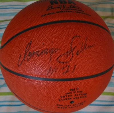 Dominique Wilkins autographed NBA game model basketball (full name signature)