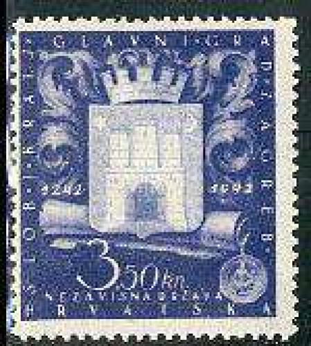 Zagreb Coat of arms 1v; Year: 1943