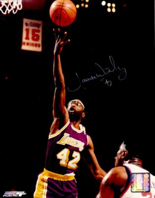 James Worthy autographed Los Angeles Lakers 8x10 photo