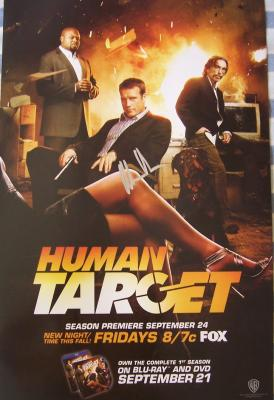 Mark Valley autographed Human Target 2010 Comic-Con poster