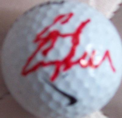 Chad Campbell autographed Nike golf ball