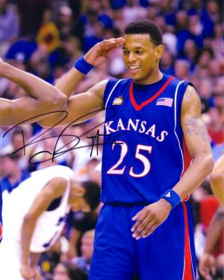 Brandon Rush autographed 8x10 Kansas Jayhawks photo