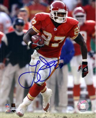 Larry Johnson autographed Kansas City Chiefs 8x10 photo