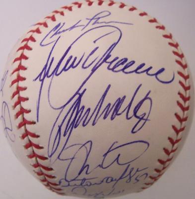 2004 Atlanta Braves team autographed baseball Bobby Cox Chipper Jones John Smoltz