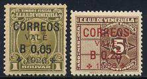 Overprints 2v; Year: 1926